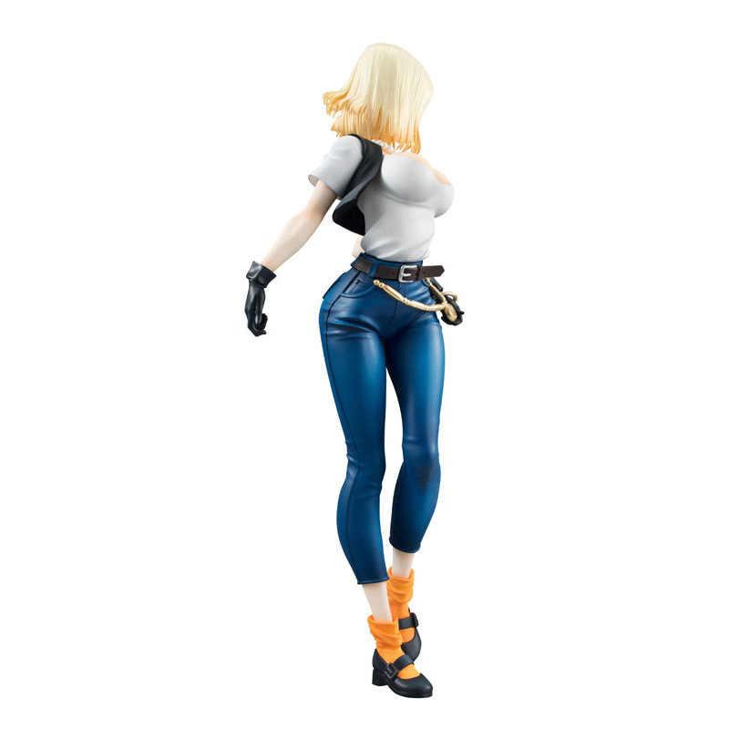 18 cm dragon ball Z meninas Moças Android 18 Lazuli Dragonball PVC action figure collectible modelo toy dolls presentes