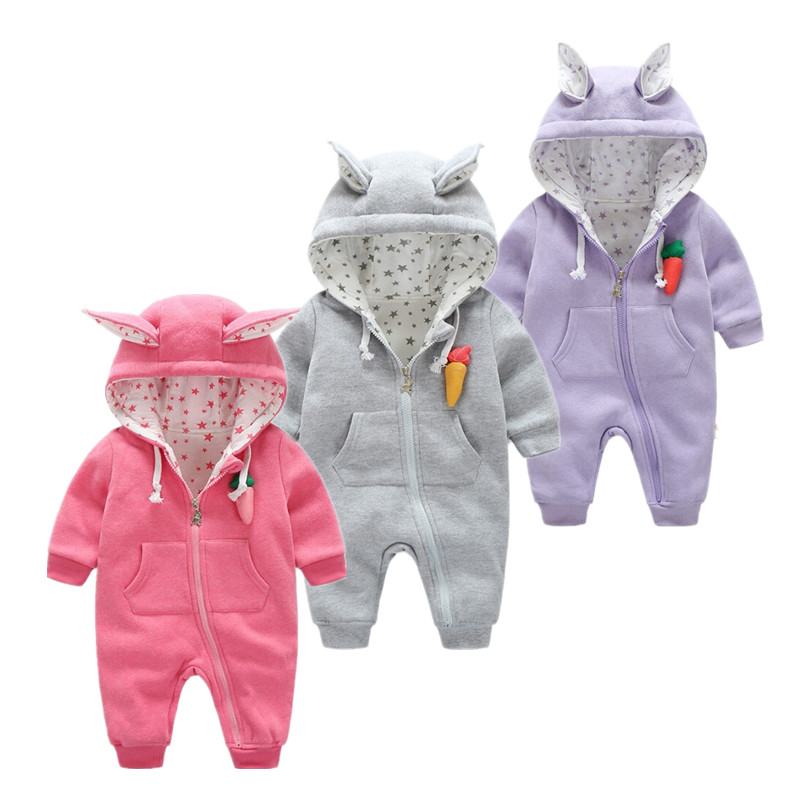 Newborn Baby Girls Clothing cotton Winter Boy   Rompers   Cartoon Infant Clothes Meninas Bear Down Snowsuit Babies Jumpsuits