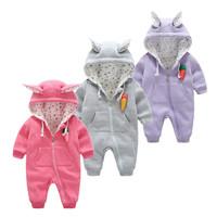 Newborn Baby Girls Clothing cotton Winter Boy   Rompers   Cartoon Infant Clothes Meninas Bear Down Snowsuit Babies Jumpsuits