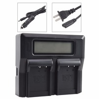 DSTE LCD104A Dual Battery Charger with USB Port for CASIO NP 110 NP 130 Battery EX ZR15 EX ZR20 EX Z2000 EX FC200S Camera