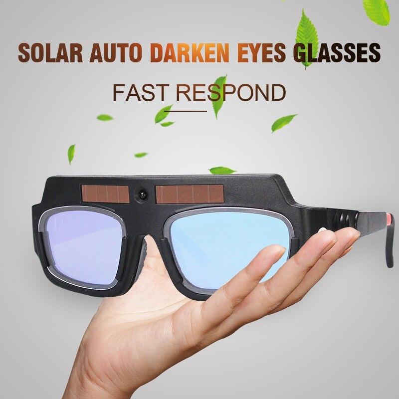 74c7a1db2791d Olhos Óculos de proteção Solar Auto Escurecimento Máscara de Solda Capacete  de Soldagem Soldador Arc Capacete de Proteção para a Máquina De Solda  ...