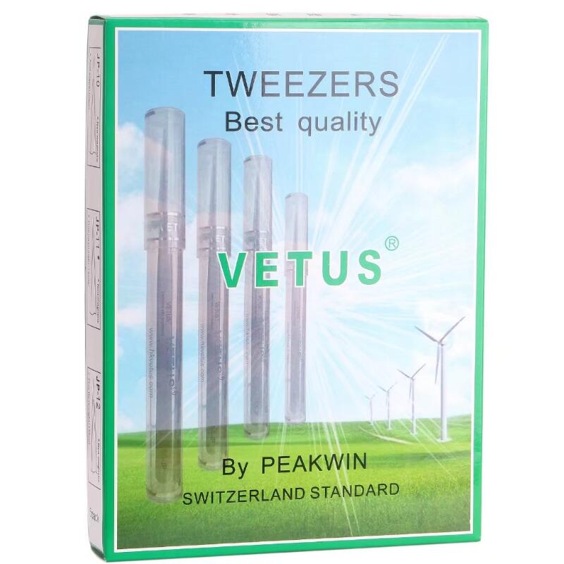 Vetus JP series Best eyelash Tweezers Stainless Steel Eyebrow Tweezer anti-static