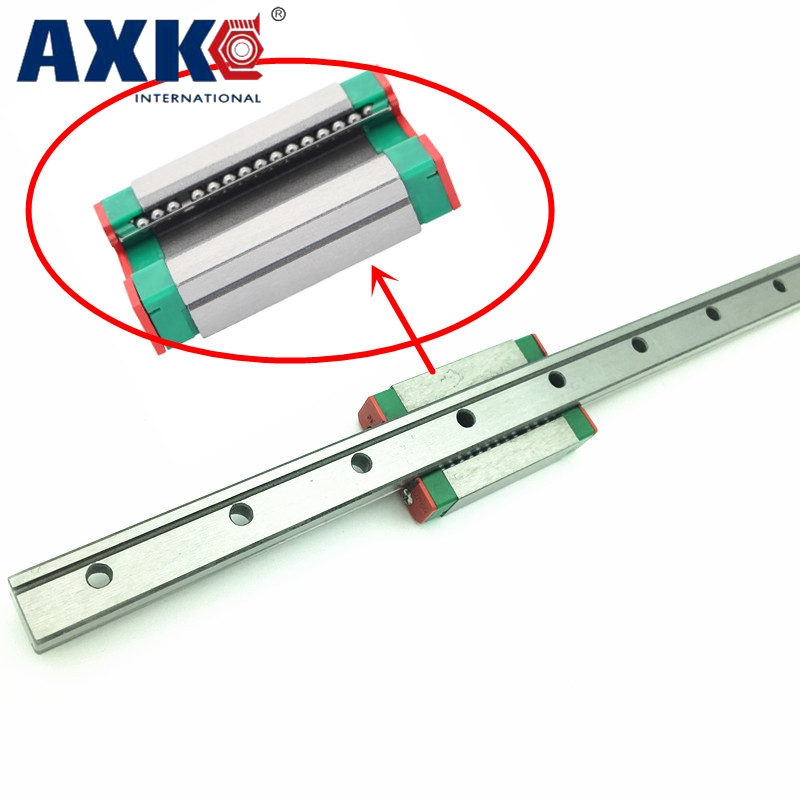 3D print parts cnc AXK MGN9 9mm miniature linear rail slide 1pcs 9mm L-700mm rail+1pcs MGN9H carriage 1pcs mgn9 175mm linear rail 1pcs mgn9h carriage