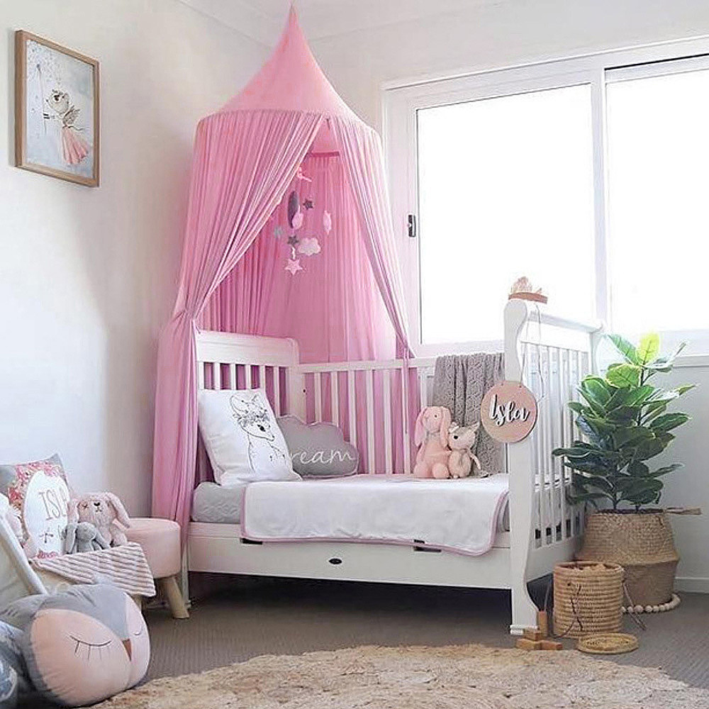 Baby Bedding Baby Canopy Mosquito Net Anti Mosquito Princess Bed Canopy Girls Boy Room Decoration Bed Canopy Pest Control Cotton Reject Net The Latest Fashion Crib Netting