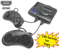 2019 New HDMI Retro Mini TV Video Game Console For Sega MegaDrive 16 Bit Games with 168 Different Built in Games Two Gamepads