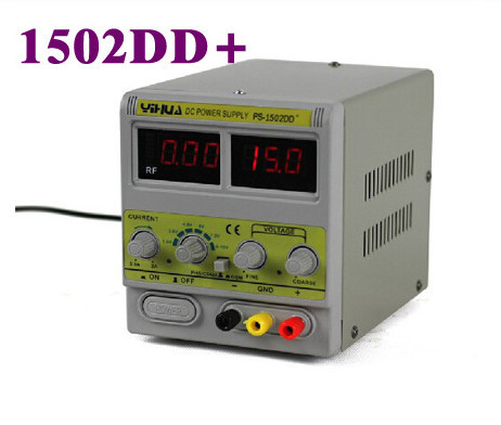 YIHUA 1502DD+ for Mobile Phone15V 2A Adjustable Regulated DC Power Supply with LED Display цена