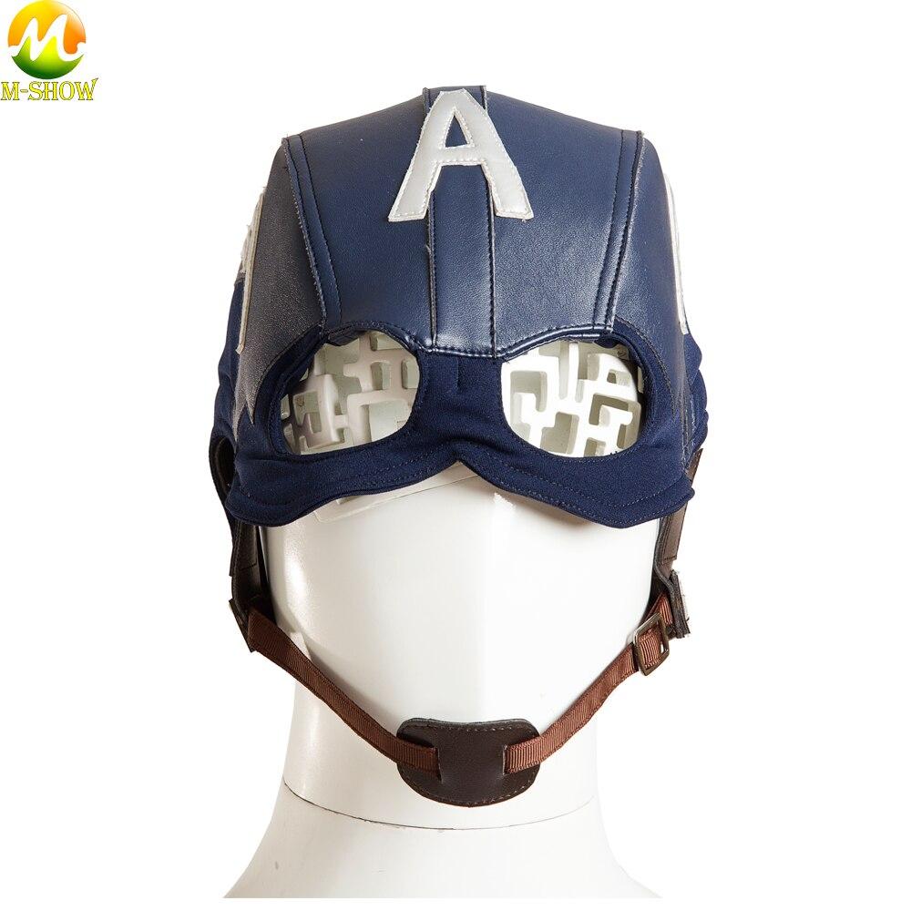 Movie Captain America 3 Civil War Cosplay Costume Captain America Superhero Men Cosplay Full Suit Custom Made Halloween