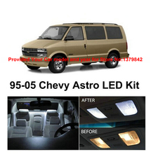 Free Shipping 11Pcs/Lot car-styling Xenon White Canbus Package Kit LED Interior Lights For Chevy Astro 1995-2000