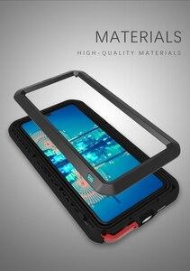 Image 2 - جراب من LOVE MEI مضاد للماء لهاتف Huawei P30 غطاء مقاوم للصدمات لهاتف Huawei P30 Pro P30 حافظة حماية من الألومنيوم P30 زجاج الغوريلا