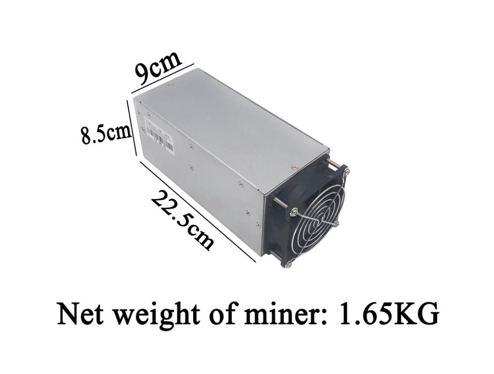 DCR minero FFMiner D18 340GH/S 160 W mini y bajo ruido asic minero Blake256 mejor que antminer Z9 mini s9... A3... D3... V9... L3 +