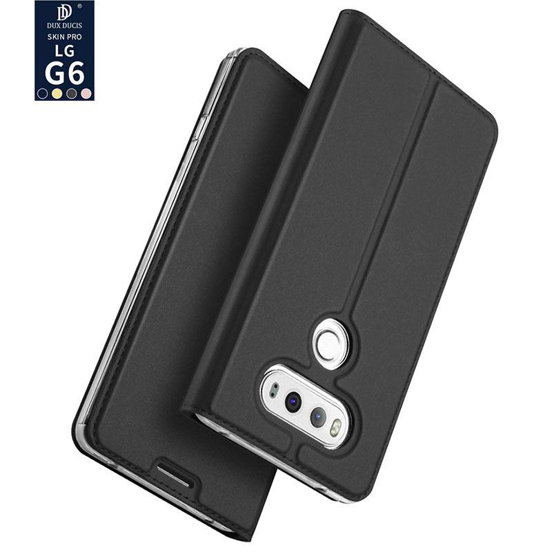 """bilder für Dux Für LG G6 Fall Dux Luxus Flip Ledertasche Für LG G6 5,7 """"Schutzhülle Kurze Wallet Phone Cases Mit Kartenhalter"""
