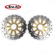 Arashi 1 Pair For DUCATI MONSTER 821 STRIPE 2015 CNC Floating Front Brake Disc Brake Rotors Disks Motorcycle 320mm