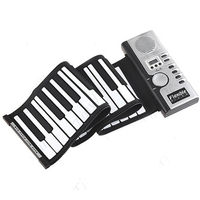 New Portable Roll Up Flexible Full 61 Soft Responsive Keys Synthesizer Electronic Piano Keyboard Built In