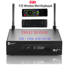 2GB 16GB EWEAT R9 Plus TV BOX Android 6.0 + OpenWRT(NAS) Realtek RTD1295 2.4G/5G WIFI Bluetooth Media Player + Wireless Keyboard