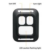Bicicleta quente usb led indicador traseiro luz da cauda da bicicleta transformar a luz do sinal com controle remoto sem fio do2