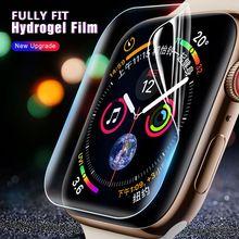 2 filme macio do protetor da tela completa do hidrogel dos pces para o relógio de maçã 5 38mm 42mm 40mm 44mm filme moderado para iwatch 5/4/3/2/1 não vidro