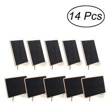 14pcs Mini Rectangle Chalkboards With Support For Message Board Signs Wedding Dinner Party Table Place Card Signs(China)