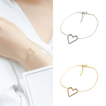 Sale 1PC High Quality Hollow Heart Alloy Women Anklets Ladies Bracelets Summer Beach Jewelry