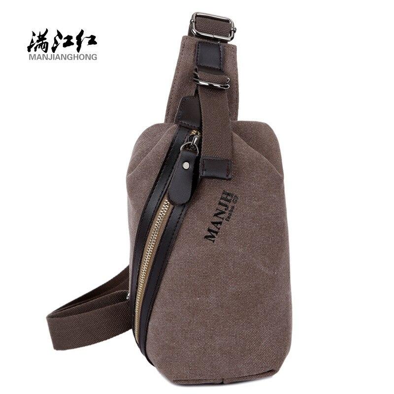5d94bbc00d06 Manjianghong модным сумка Crossbody мешок человек Высокое качество Сумки-холсты  человека груди bag1269