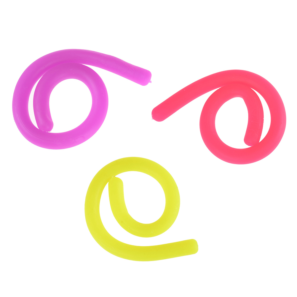 Stretchy String Fidget Noodle Autism/ADHD/Anxiety TPR Squeeze Fidget Fiddle Sensory Toy 3 Color Optional