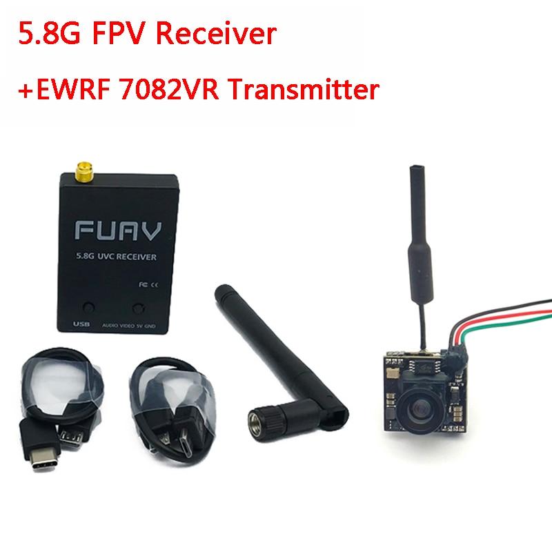 5.8G FPV Receiver UVC Video Downlink OTG VR Android Phone+EWRF 7082VR Transmitter 5.8G 48CH VTX 700TVL 120 Degree FPV Camera5.8G FPV Receiver UVC Video Downlink OTG VR Android Phone+EWRF 7082VR Transmitter 5.8G 48CH VTX 700TVL 120 Degree FPV Camera