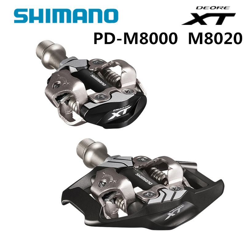 Shimano DEORE XT PD-M8000 m8020 Self-Locking SPD Pedals MTB Components Using for Bicycle Racing Mountain Bike Parts shimano deore xt pd m8000 m8020 self locking spd pedal mtb components for bicycle racing mountain bike parts pd m8000 edals