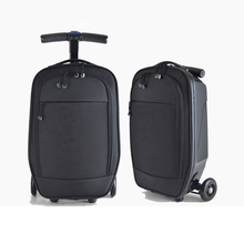 Letrend New Fashion Black oxford Skateboard Rolling Luggage 21 inch Business Men Trolley Suitcases Student Travel Bag Trunk