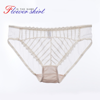GRMANE Lace Underpants Briefs For Women Underwear Female Soft Lovely Sweet Stripes Simple Sexy Lingerie 8301NK