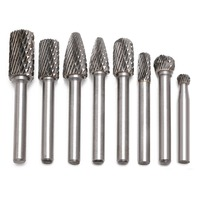 8Pcs 1 4 Tungsten Carbide Burr Bit 6mm Rotary Cutter Files CNC Engraving Tool