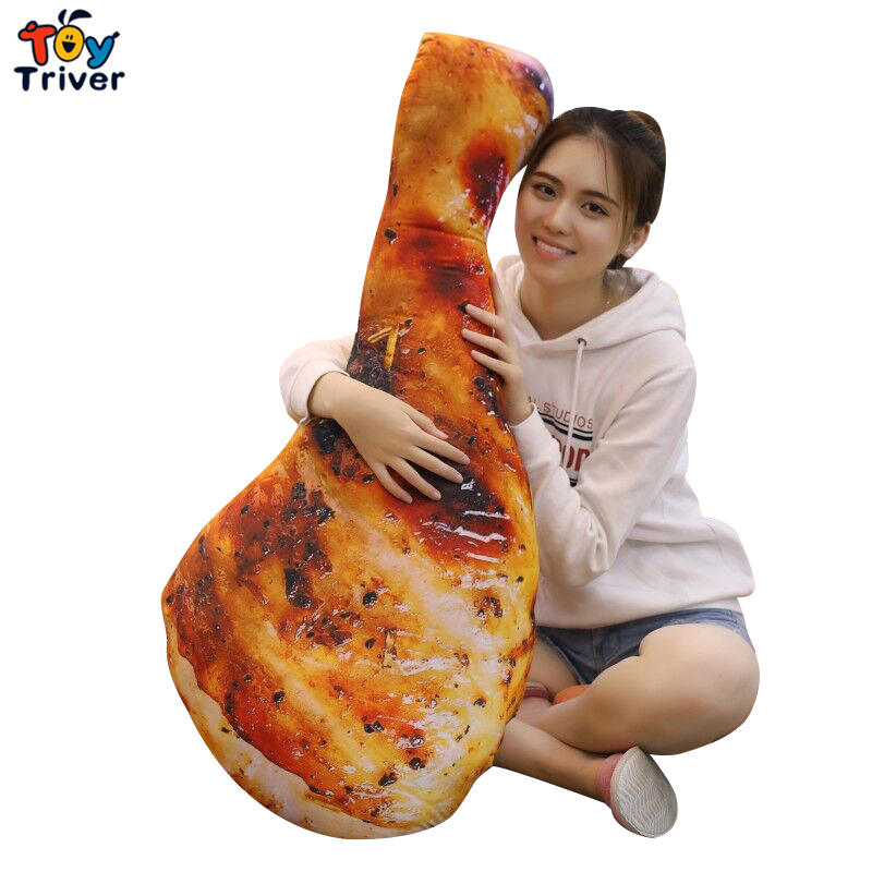 Roast Chicken Leg Chick Barbecue Plush Toy Triver Stuffed Doll Pillow Cushion Baby Kids Children Birthday Gift Restaurant Decor