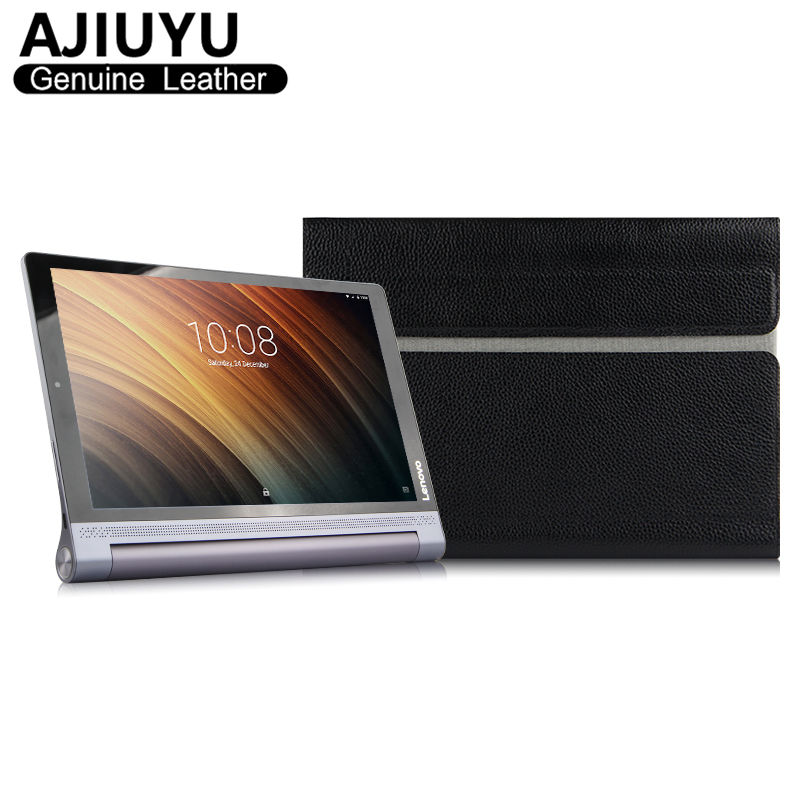 Genuine Leather For Lenovo Yoga Tab 3 10 Case Cover Tab3 10 Case sleeve Protective Tablet  YT3-X50M X50L yt3 X50F 10.1 Cowhide mingshore durable protective case for yoga tablet 3 850 8 0 silicone cover for lenovo yoga tab 3 model 850f m l 8 0 tablet case