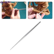 Stainless steel Rod Detail Needles For Pottery Modeling Carving Clay Sculpture Ceramics Tools For Model Cloth Line Texture(China)