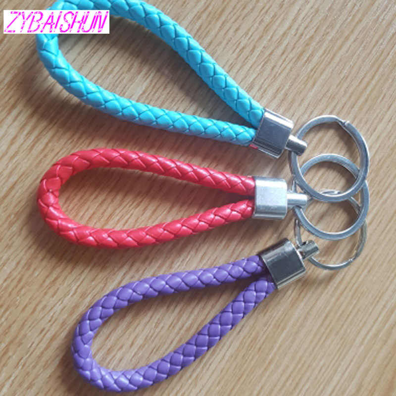 New Manual key braided rope keychain car chain braided rope keychain for  Honda CRV Accord Odeysey Crosstour FIT Jazz City Civic