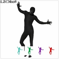 LZCMsoft 22 Colors Mens Lycra Full Body Zentai Suits Spandex Nylon Zentai Bodysuits Skin Tights Halloween Costumes For Adults
