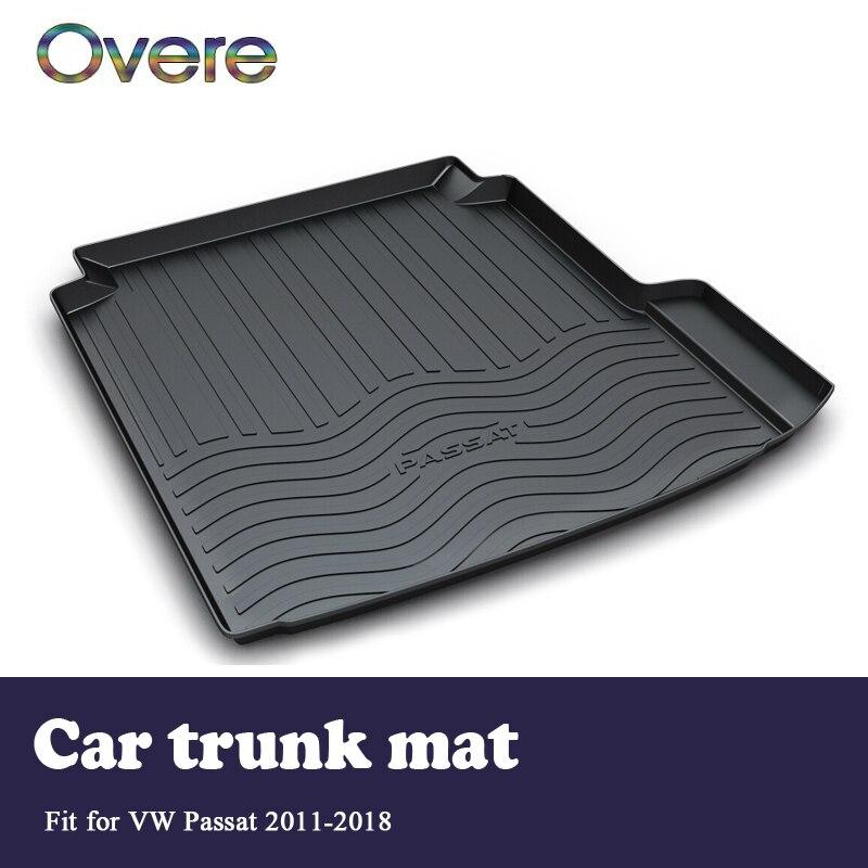 Overe 1Set Car Cargo rear trunk mat For VW Passat 2011 2012 2013 2014 2015 2016 2017 2018 Boot Liner Anti-slip mat Accessories цена