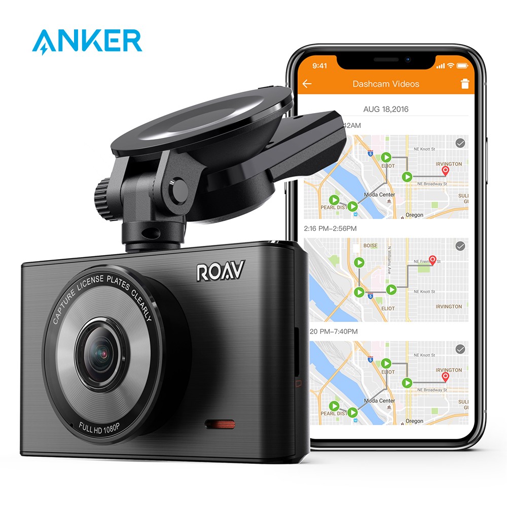 Anker-Cámara de salpicadero C2 Pro con FHD 1080p, Sensor Sony Starvis, de 4 carriles lente gran angular, registro GPS, wifi, App dedicada, Sensor G