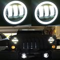 Best price New 4 Inch Round Led Fog Lights 30W Projector lens 12V Driving Led Headlight for jeep Offroad Wrangler Jk