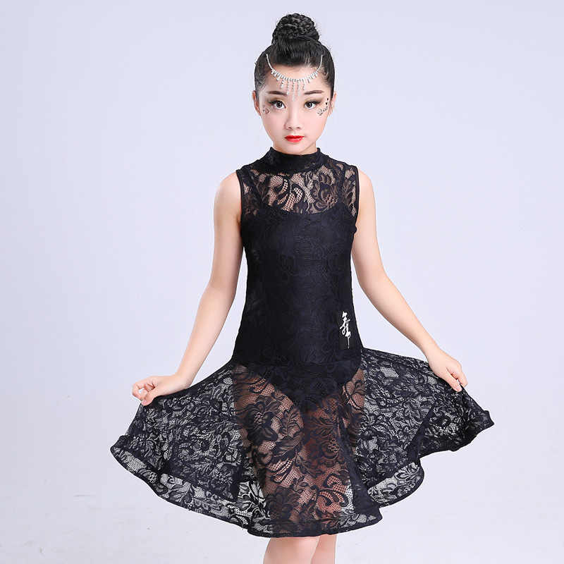 617572d7c Child Professional Latin Dance Dress For Girls Lace Skirt Patterns Ballroom Dancing  Dresses Kids Rumba Cha .