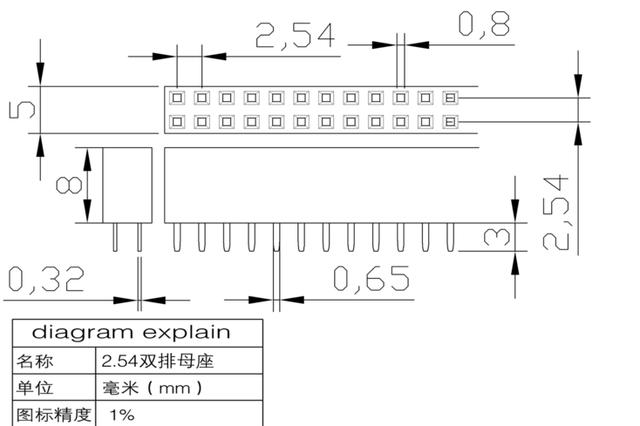 10PCS Double Row Pin Female Header Socket Pitch 2.54mm 2*2p 3p 4p 5p 6p 8p 10p 12p 40p Pin Connector