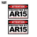 Yjzt 2X 11 см * 7,8 см защищены AR15 Предупреждение пистолет отражающие Стикеры Наклейка ПВХ 12-0508 - фото