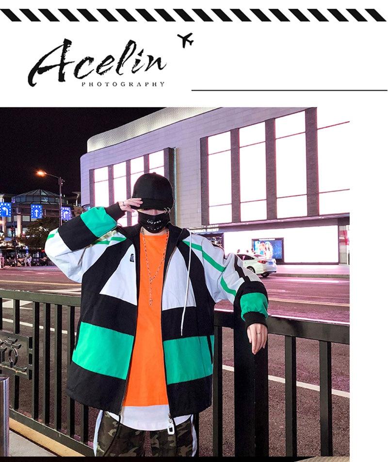 Autumn Spring Jacket Windbreaker Korean Men Hip Hop (9)