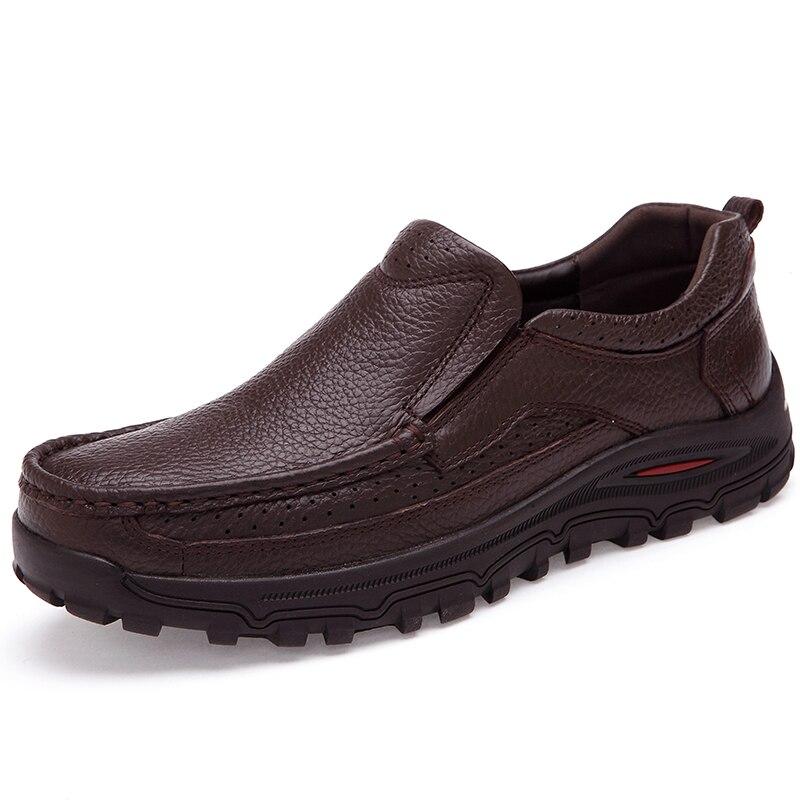 VANCAT marque taille 38-48 mode fait à la main marque en cuir véritable chaussures plates pour homme, mocassins hommes en cuir souple, chaussures hommes de haute qualité - 4
