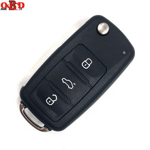 HKOBDII New 3 Buttons 202AD Remote Key 433MHZ with 48 chip For Volkswagen VW Lavida 1KO 959 753N