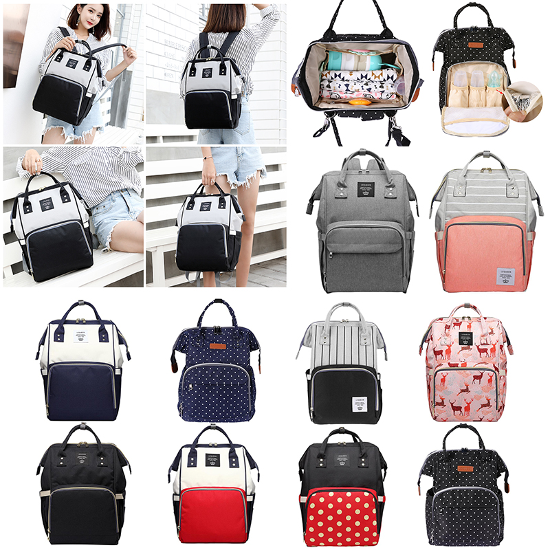 LEQUEEN Fashion Mummy Bag Multi-function Diaper Bags Zip Mummy Nursing Bag Large Capacity Baby Care Fashion Travel Backpack