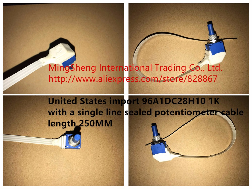 все цены на Original new 100% United States import 96A1DC28H10 1K with a single line sealed potentiometer cable length 250MM 96A1D (SWITCH)