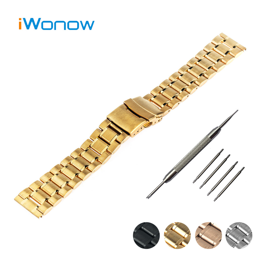 Stainless Steel Watchband 20mm 22mm for IWC Watch Band Safety Buckle Strap Wrist Belt Bracelet Black Rose Gold Silver + Tool 20mm 22mm quick release watchband for iwc watch band 5 pointer stainless steel strap wrist belt bracelet black silver tool pin
