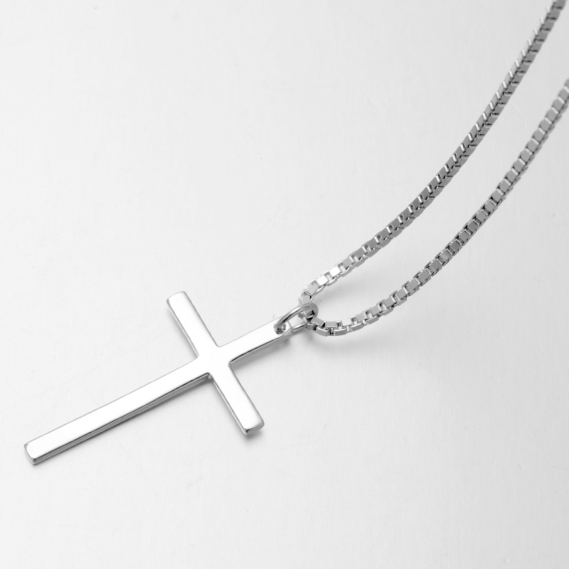 925 sterling silver cross necklace simple silver