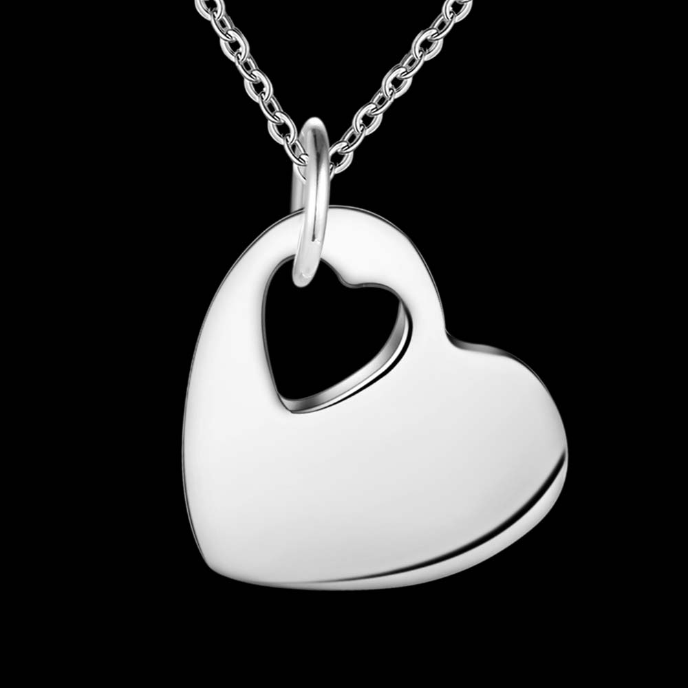 Fashion Korean version popular silver plated high-quality caring necklace fashion charm Women retro jewelry package mail