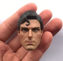 Custom 1/6 Superman Head Sculpt Christopher Carved for 12 action figure