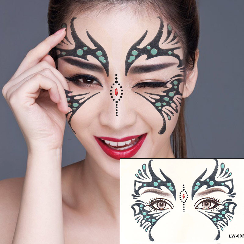 2pcs/lot Halloween Butterfly Eye Sticker Funny Face Stickers makeup eye  stickers Performing Arts temporary tattoo sticker-in Temporary Tattoos from  Beauty ...